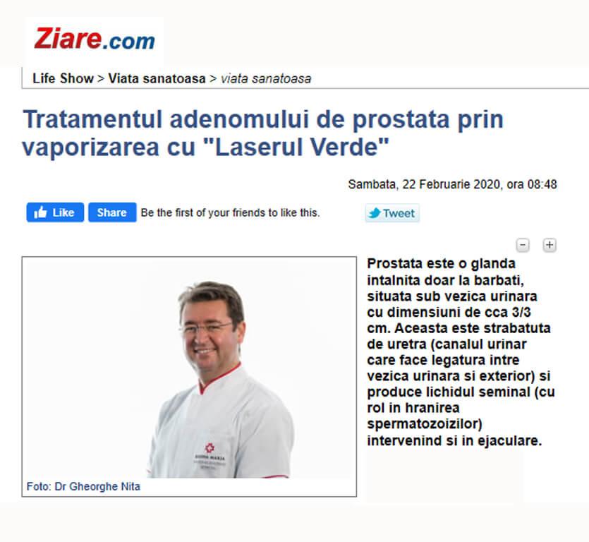 ziarecom adenom de prostata